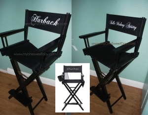 These personalized Makeup Artist chairs are perfect for any budding or seasoned makeup artist! Put your brand on it, for a more professional look.